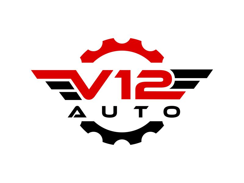 V12 auto logo design by creator_studios