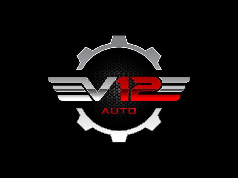 V12 auto logo design by torresace