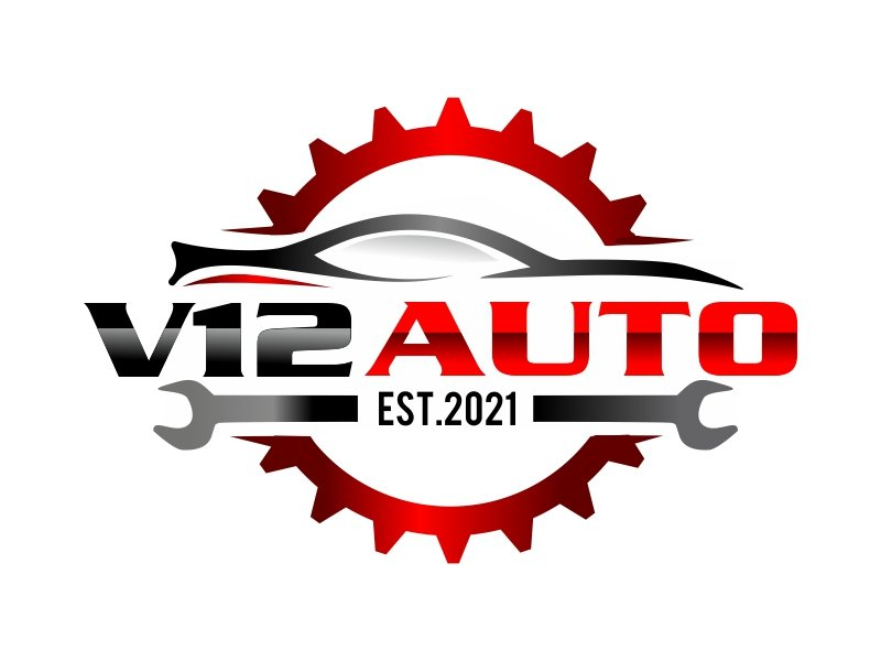V12 auto logo design by ruki