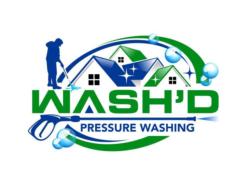 Wash'd  PRESSURE WASHING logo design by ingepro