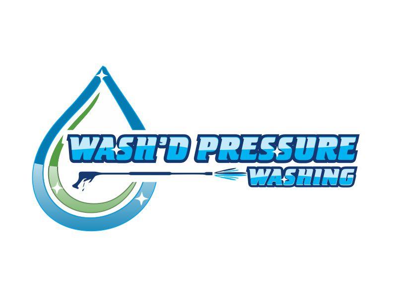 Wash'd  PRESSURE WASHING logo design by bismillah