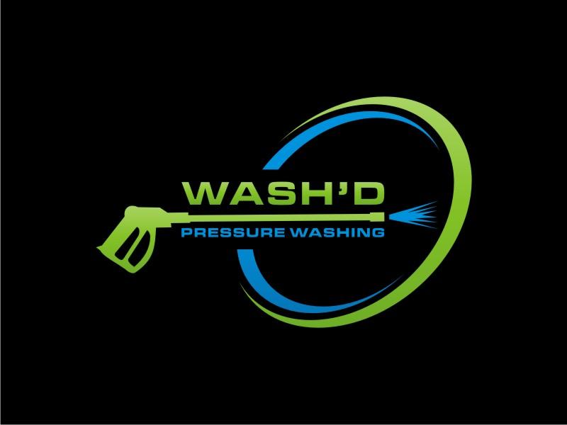 Wash'd  PRESSURE WASHING logo design by sabyan