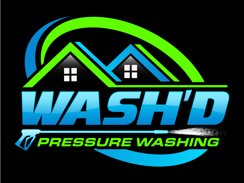 Wash'd  PRESSURE WASHING logo design by daywalker