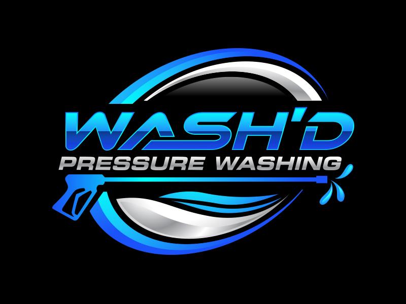 Wash'd  PRESSURE WASHING logo design by scriotx