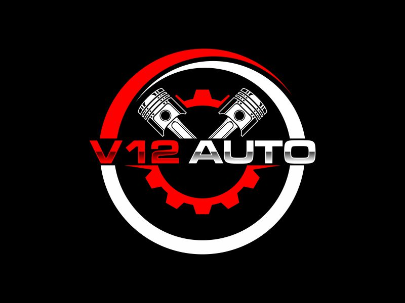 V12 auto logo design by vostre
