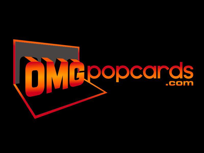 OMGpopcards.com logo design by agus