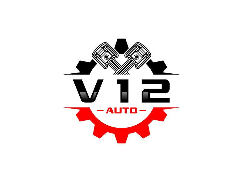 V12 auto logo design by andayani*