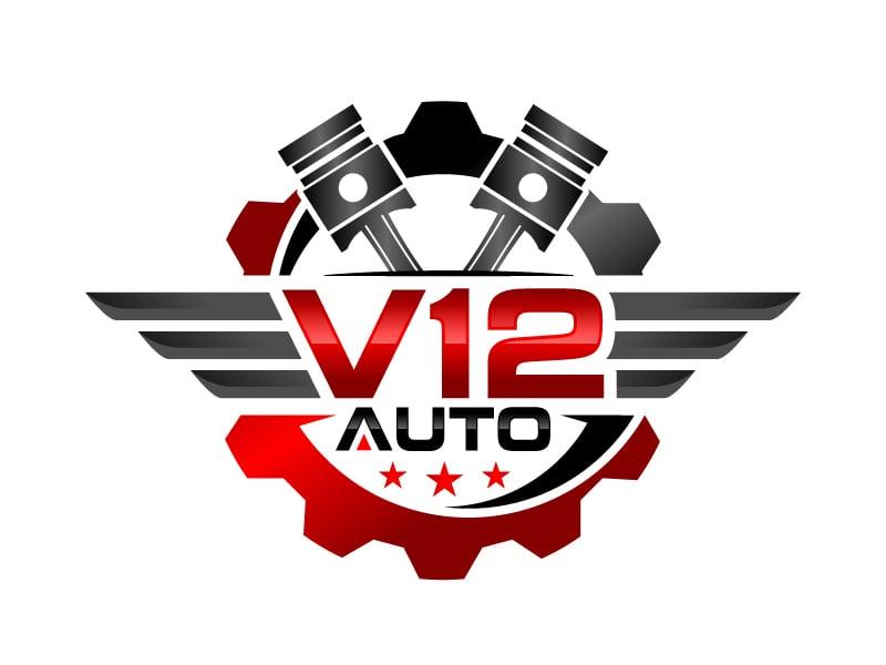 V12 auto logo design by jaize