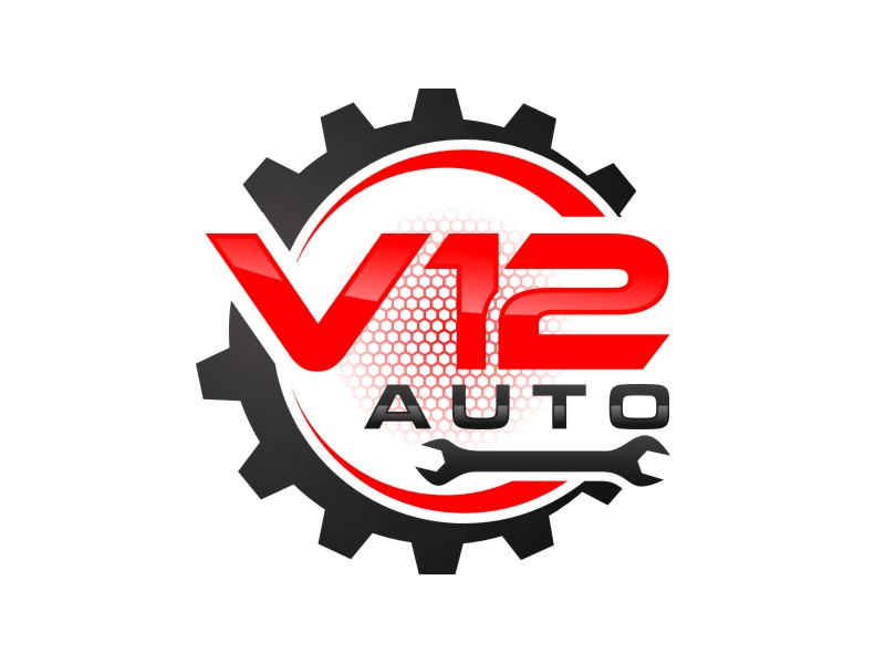 V12 auto logo design by Arto moro
