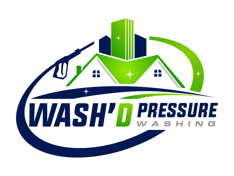 Wash'd  PRESSURE WASHING logo design by MUSANG