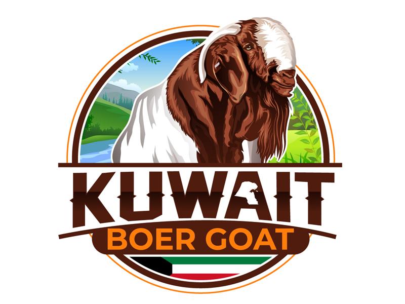 Kuwait Boer goat Logo Design