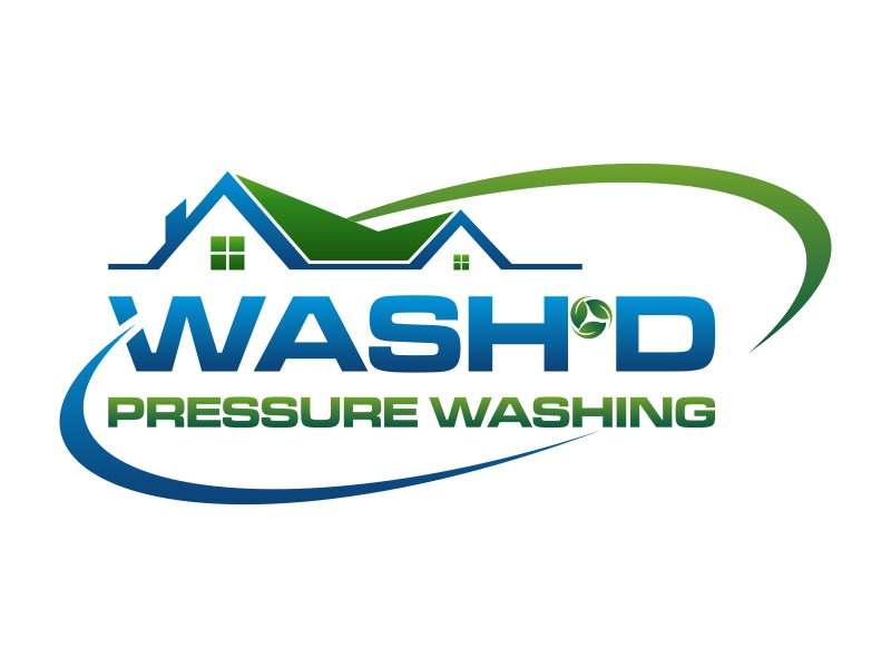 Wash'd  PRESSURE WASHING logo design by luckyprasetyo