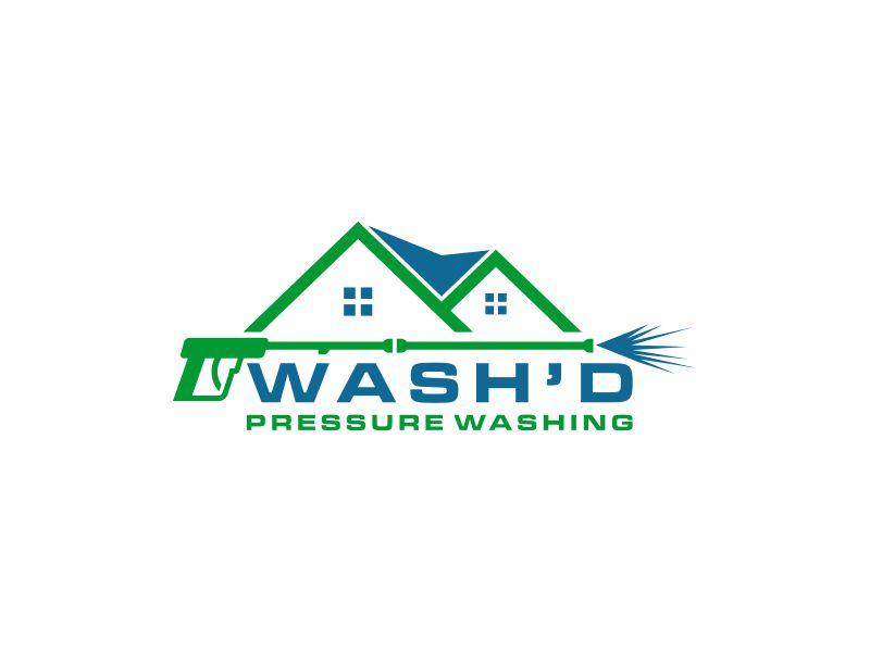 Wash'd  PRESSURE WASHING logo design by Diponegoro_