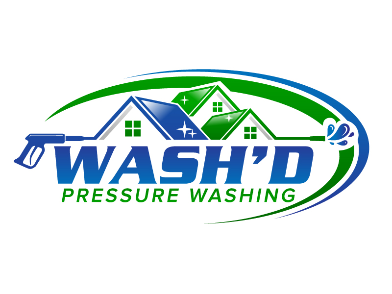 Wash'd  PRESSURE WASHING logo design by jaize
