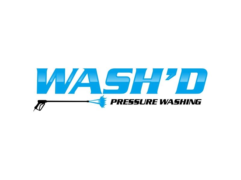 Wash'd  PRESSURE WASHING logo design by GassPoll