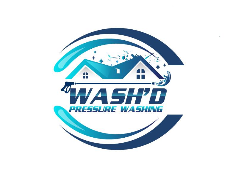 Wash'd  PRESSURE WASHING logo design by drifelm