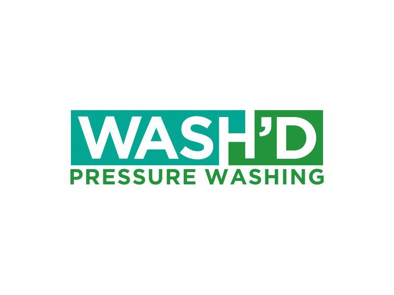 Wash'd  PRESSURE WASHING logo design by MUNAROH