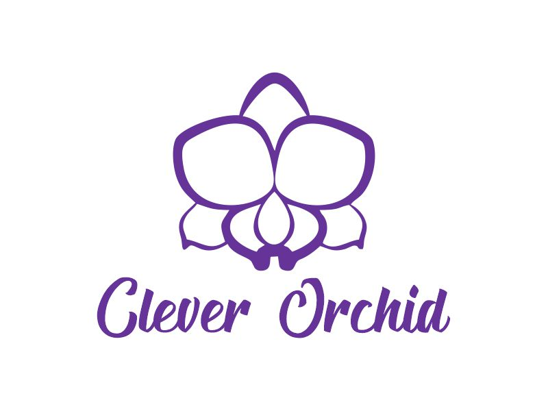 Clever Orchid logo design by Gwerth