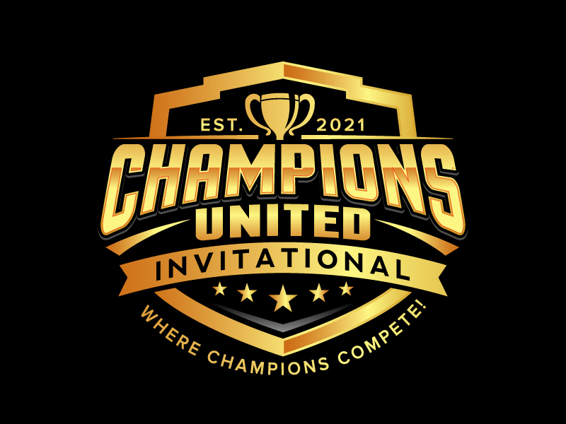 "Champions United Invitational - ""Where Champions Compete!"" logo design by jaize"