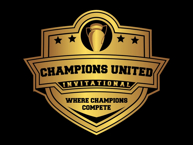 """Champions United Invitational - """"Where Champions Compete!"""" logo design by Kruger"""