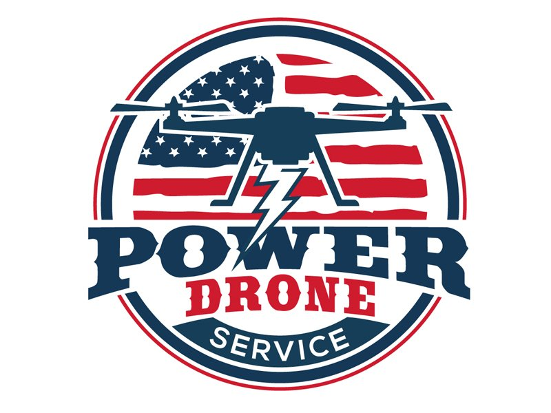 Power Drone Service Logo Design