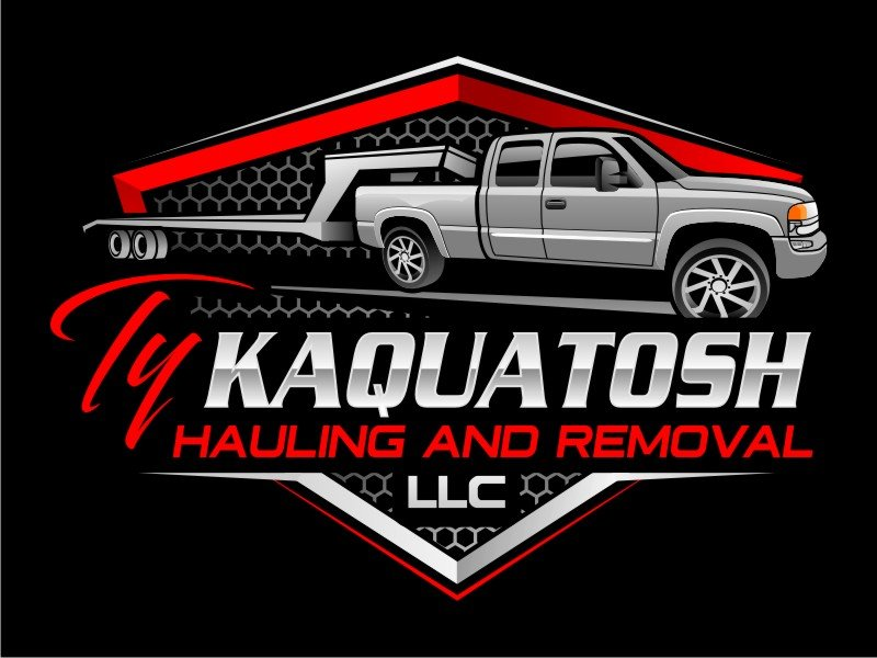 Ty Kaquatosh hauling and removal L.L.C Logo Design