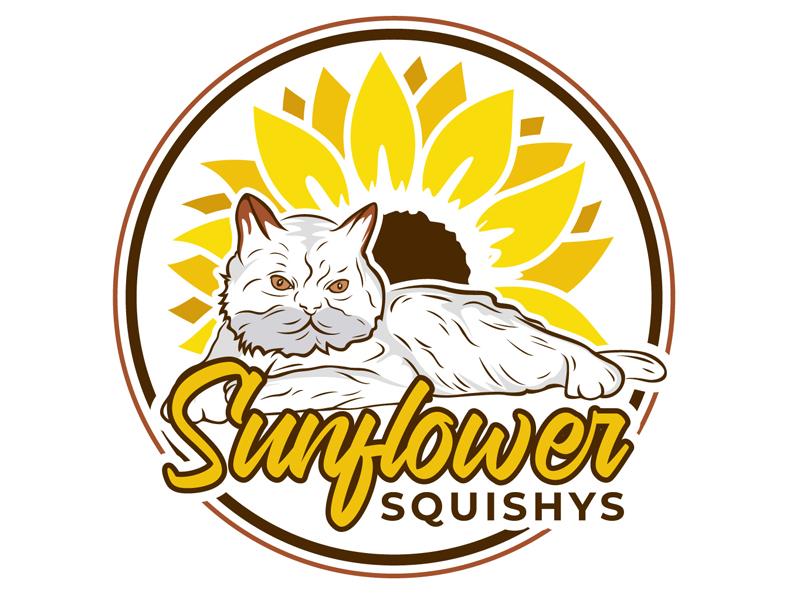 Sunflower Squishys logo design by DreamLogoDesign