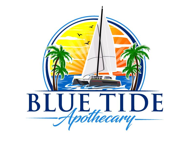 Blue Tide Apothecary logo design by ElonStark