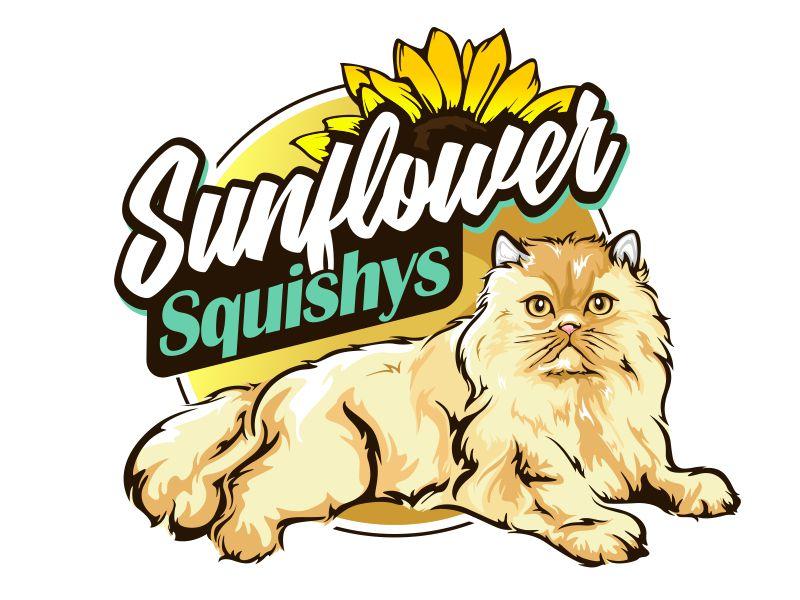 Sunflower Squishys logo design by veron