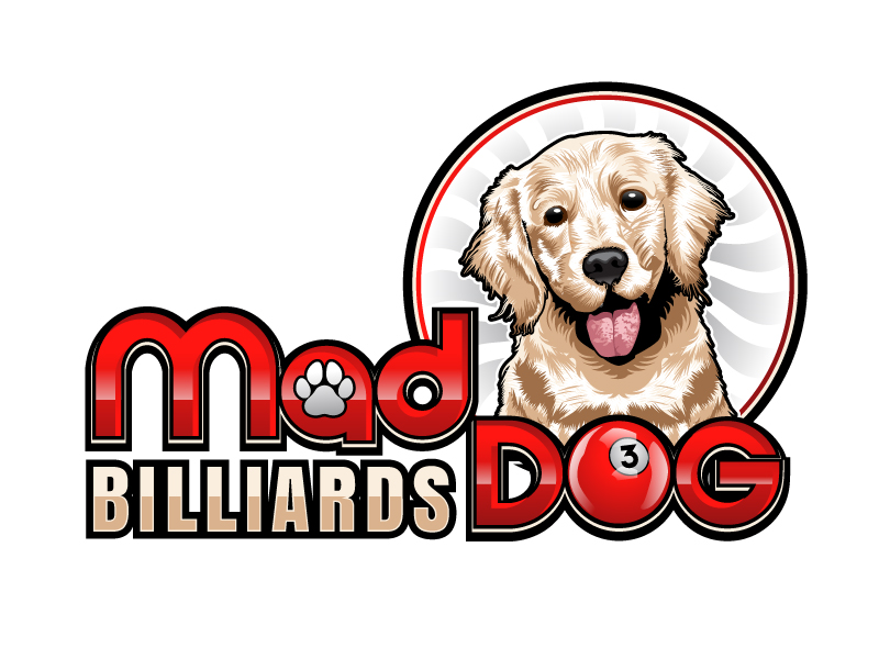 Mad Dog Billiards logo design by uttam