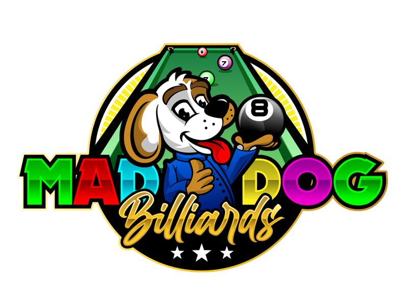 Mad Dog Billiards logo design by DreamLogoDesign