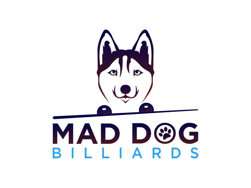 Mad Dog Billiards logo design by azizah