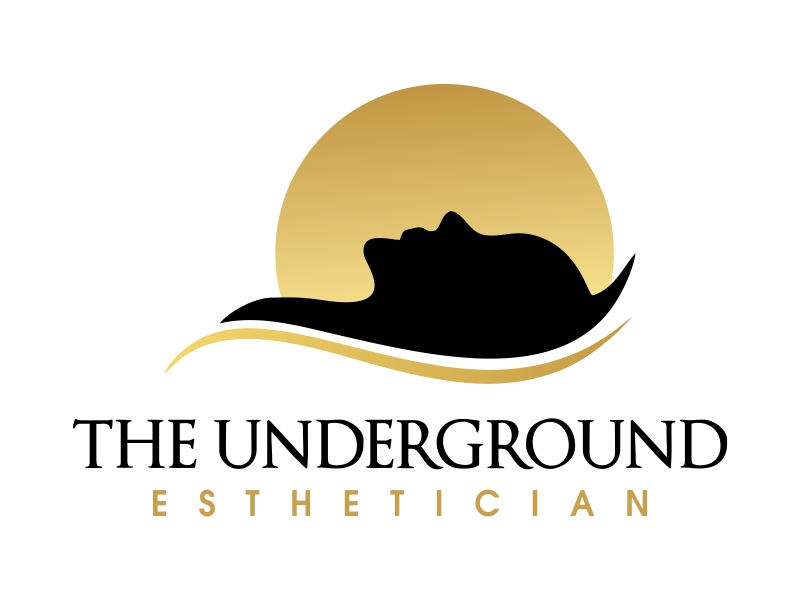 The Underground Esthetician.........it's deeper than just a facial logo design by JessicaLopes
