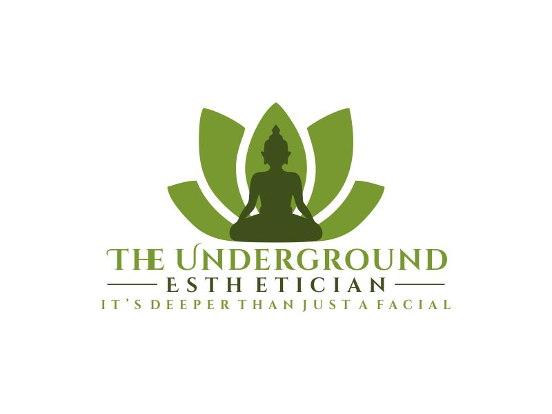 The Underground Esthetician.........it's deeper than just a facial logo design by bismillah