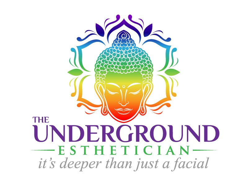 The Underground Esthetician.........it's deeper than just a facial logo design by jaize