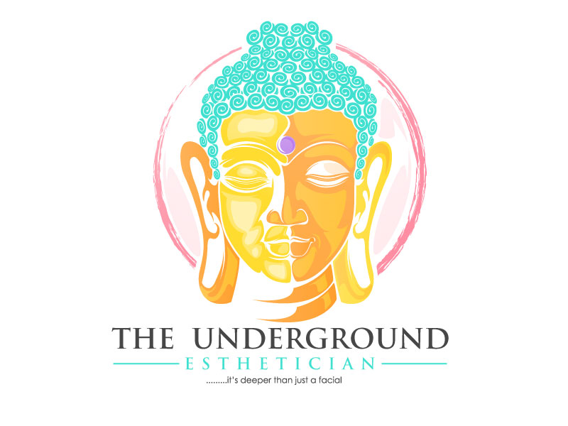 The Underground Esthetician.........it's deeper than just a facial logo design by usashi
