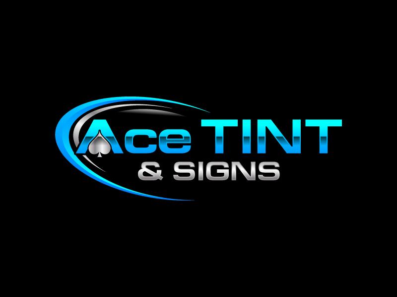 Ace  TINT  & SIGNS logo design by uttam