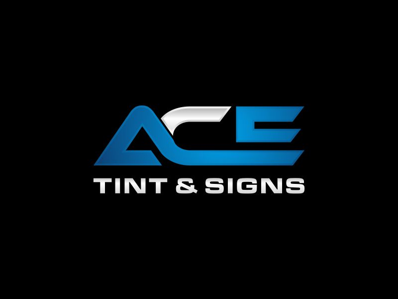 Ace  TINT  & SIGNS logo design by mbamboex