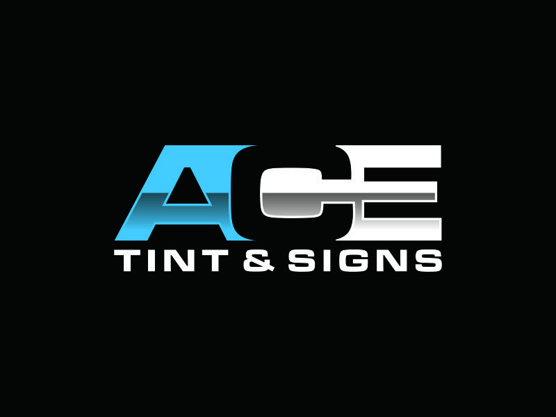 Ace  TINT  & SIGNS logo design by puthreeone