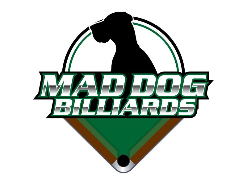 Mad Dog Billiards logo design by Kruger