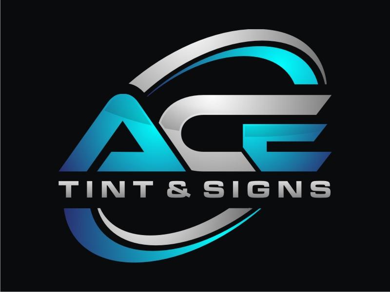 Ace  TINT  & SIGNS logo design by Arto moro