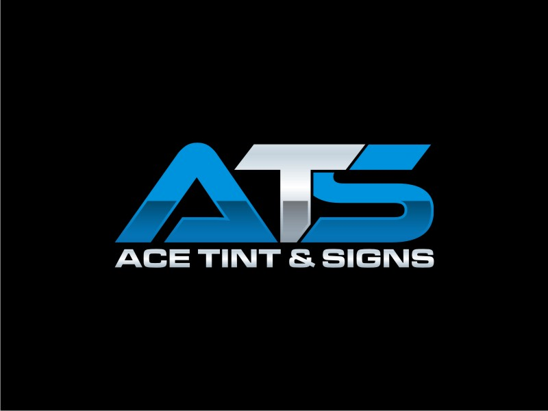 Ace  TINT  & SIGNS logo design by sabyan
