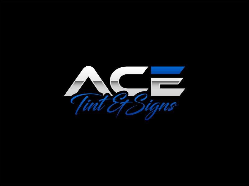 Ace  TINT  & SIGNS logo design by lexipej
