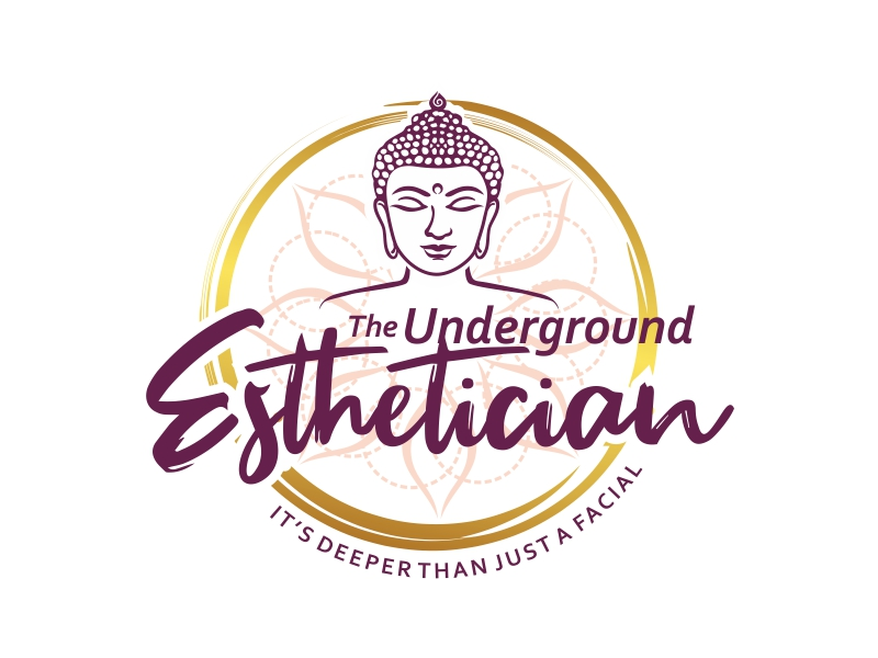 The Underground Esthetician.........it's deeper than just a facial logo design by ruki