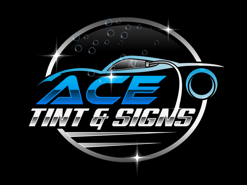 Ace  TINT  & SIGNS logo design by Suvendu