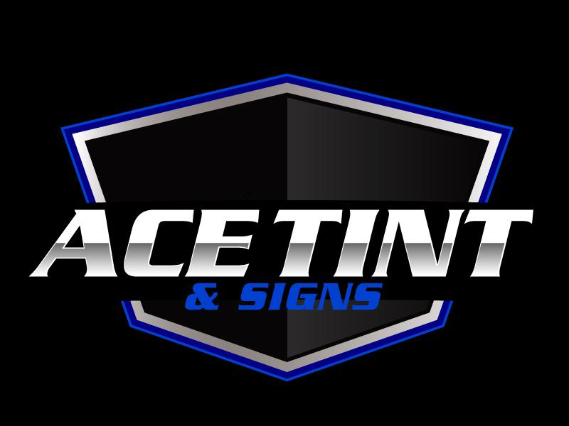 Ace  TINT  & SIGNS logo design by ElonStark