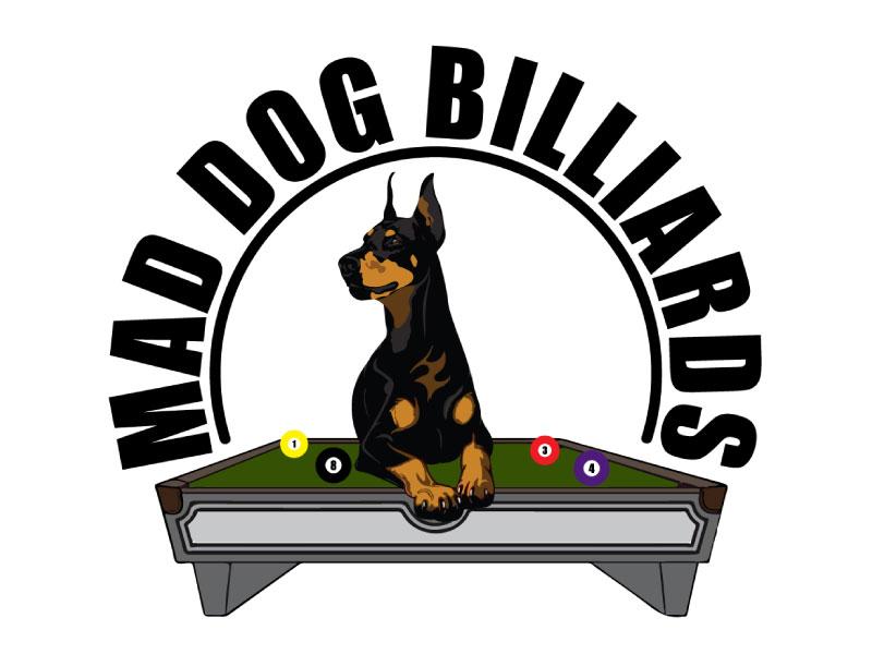 Mad Dog Billiards logo design by nona