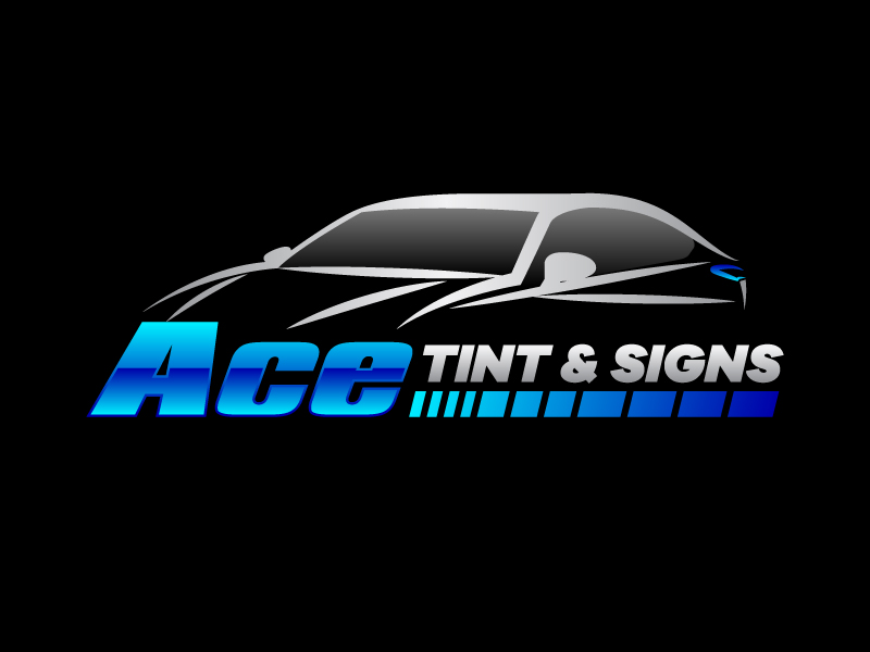 Ace  TINT  & SIGNS logo design by karjen