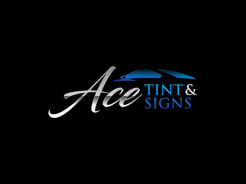 Ace  TINT  & SIGNS logo design by torresace