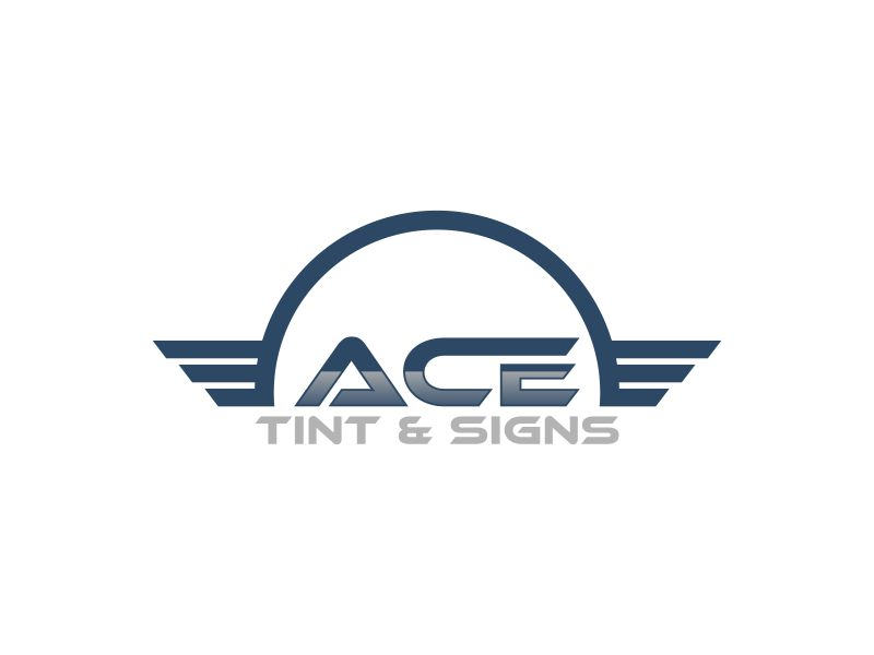 Ace  TINT  & SIGNS logo design by Diponegoro_
